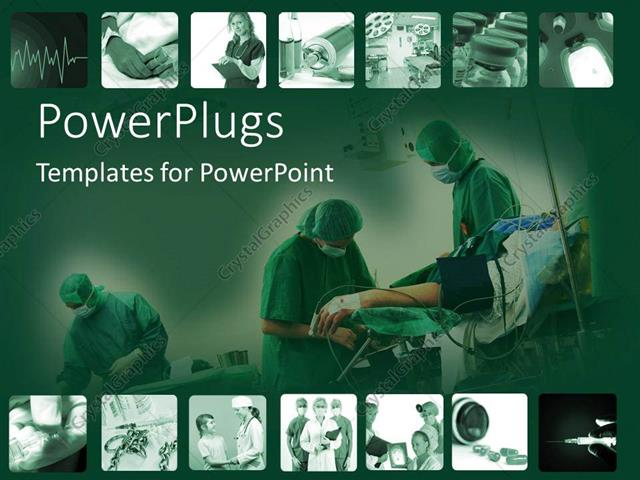 Powerpoint Template Snapshots Of Time In Hospital With