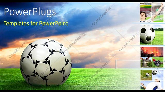 Powerpoint Template Soccer Ball Football Sport Game Collage 26651