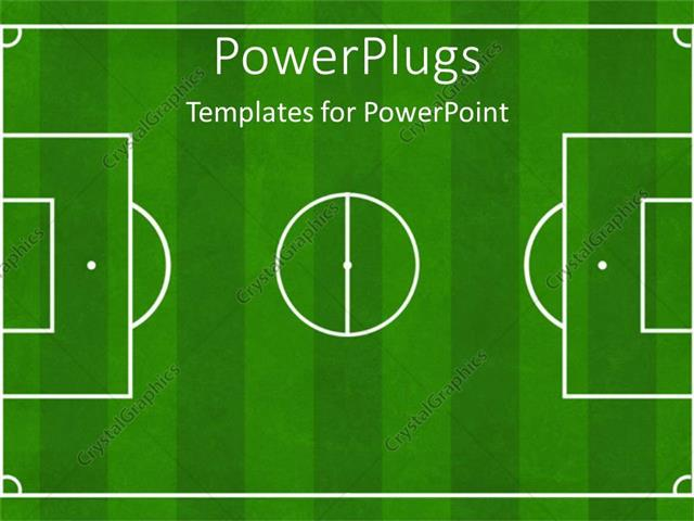 Powerpoint Template Soccer Football Ground Background