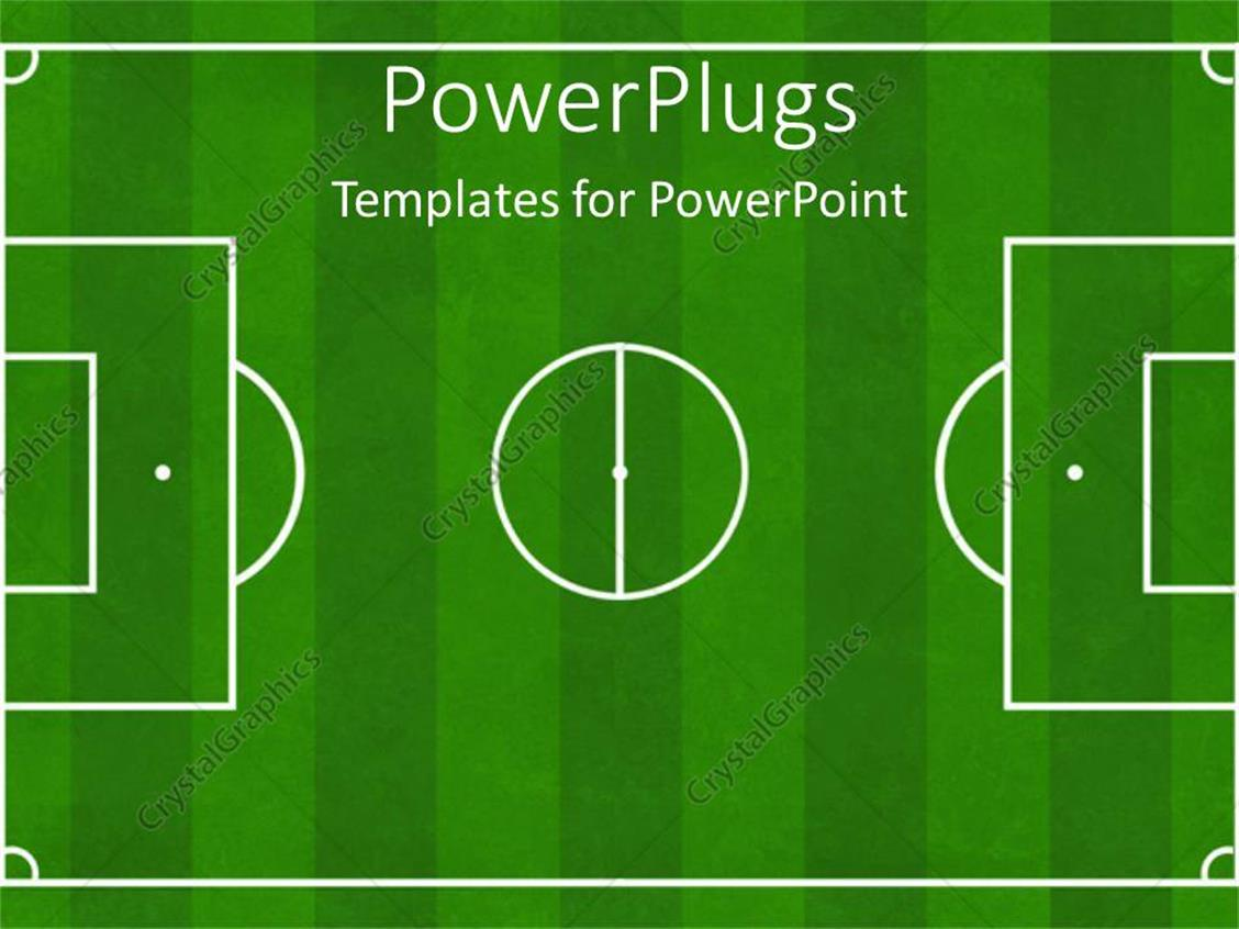 Powerpoint Template Soccer Football Ground Background Soccer