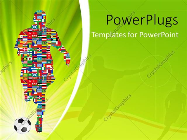 Powerpoint template soccer player made up of different flags in powerpoint template displaying soccer player made up of different flags in global soccer event toneelgroepblik Gallery