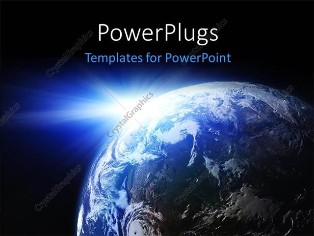 Powerpoint template space view of the sun shining on the planet powerpoint template displaying space view of the sun shining on the planet earth toneelgroepblik Image collections