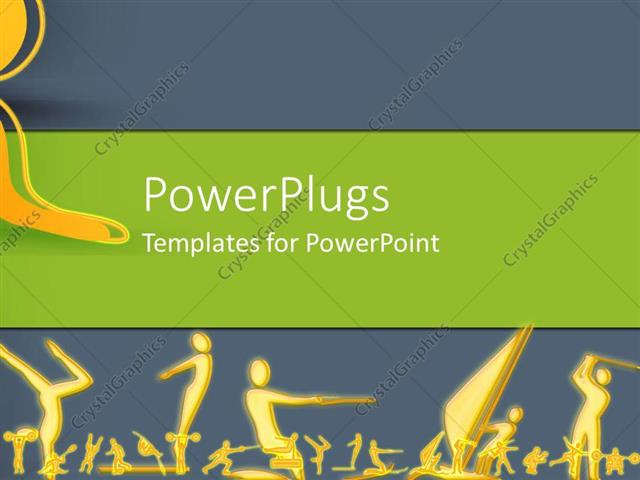 powerpoint template sports and games 4660