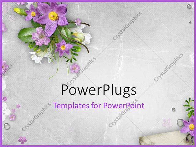 Powerpoint template spring flowers on textured background 27213 powerpoint template displaying spring flowers on textured background mightylinksfo