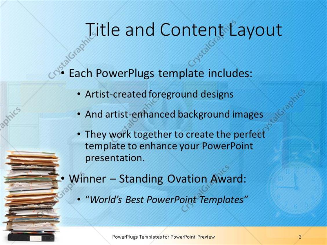 Powerpoint template stack of documents and files in folders pile powerpoint products templates secure publicscrutiny Images