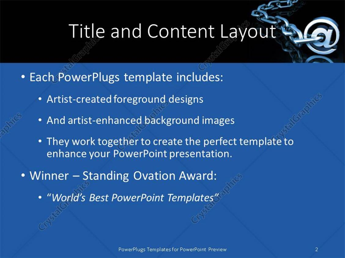 Powerpoint template a stainless steel chain with the word 17609 powerpoint products templates secure alramifo Image collections