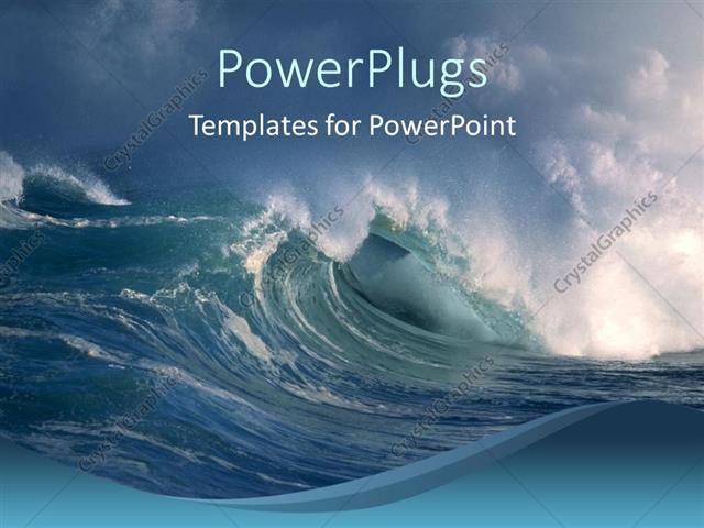Powerpoint template storm on the ocean big waves crashing on blue powerpoint template displaying storm on the ocean big waves crashing on blue background toneelgroepblik Image collections