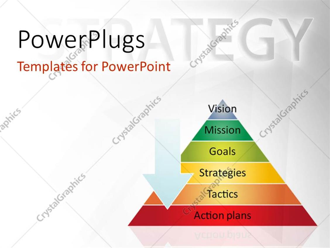 PowerPoint Template: Strategy pyramid business management process ...