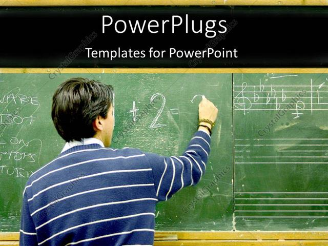 Powerpoint template student writing in blackboard mathematics powerpoint template displaying student writing in blackboard mathematics music english education school toneelgroepblik Images