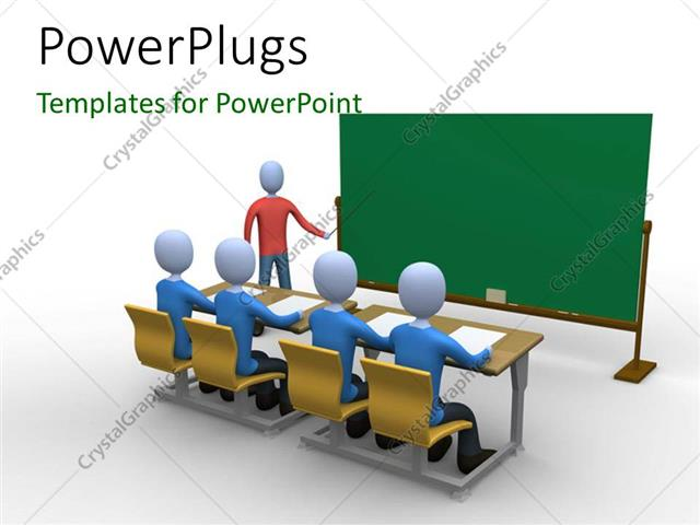 Powerpoint Template A Teacher In The Classroom During Lecture 28599