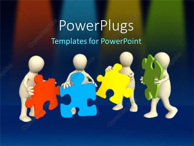 Powerpoint template a team of people putting together multicolored powerpoint template displaying a team of people putting together multicolored missing puzzle pieces as a toneelgroepblik Images