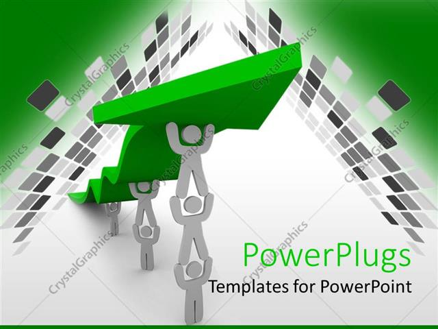 PowerPoint Template: teamwork for growing business with white ...