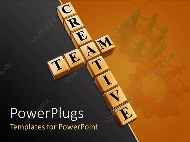 Team Building Template | Powerpoint Template Teamwork Theme With Creative Team Building