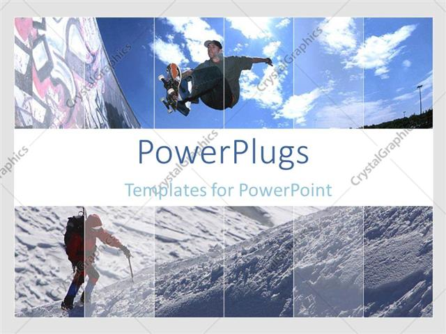 Powerpoint template a teen ager skateboarding and a person climbing powerpoint template displaying a teen ager skateboarding and a person climbing a mountain toneelgroepblik Choice Image
