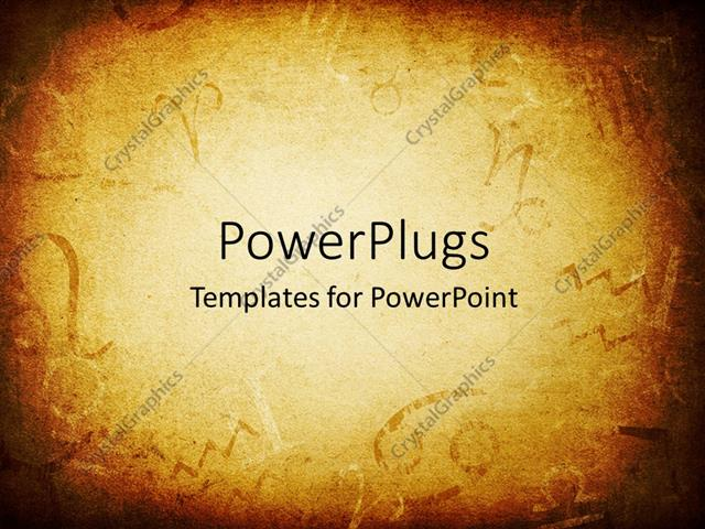 Powerpoint template texture of old paper with zodiac signs abstract powerpoint template displaying texture of old paper with zodiac signs abstract astrology theme toneelgroepblik Images
