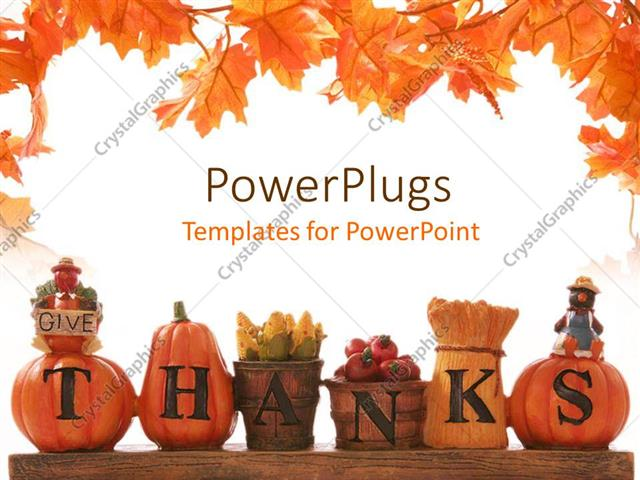 Powerpoint Template Thanksgiving Decoration With Beautiful
