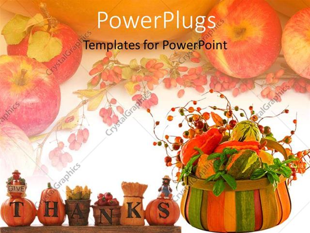 Powerpoint template thanksgiving theme with words give thanks powerpoint template displaying thanksgiving theme with words give thanks turkey pumpkins gourds toneelgroepblik Image collections