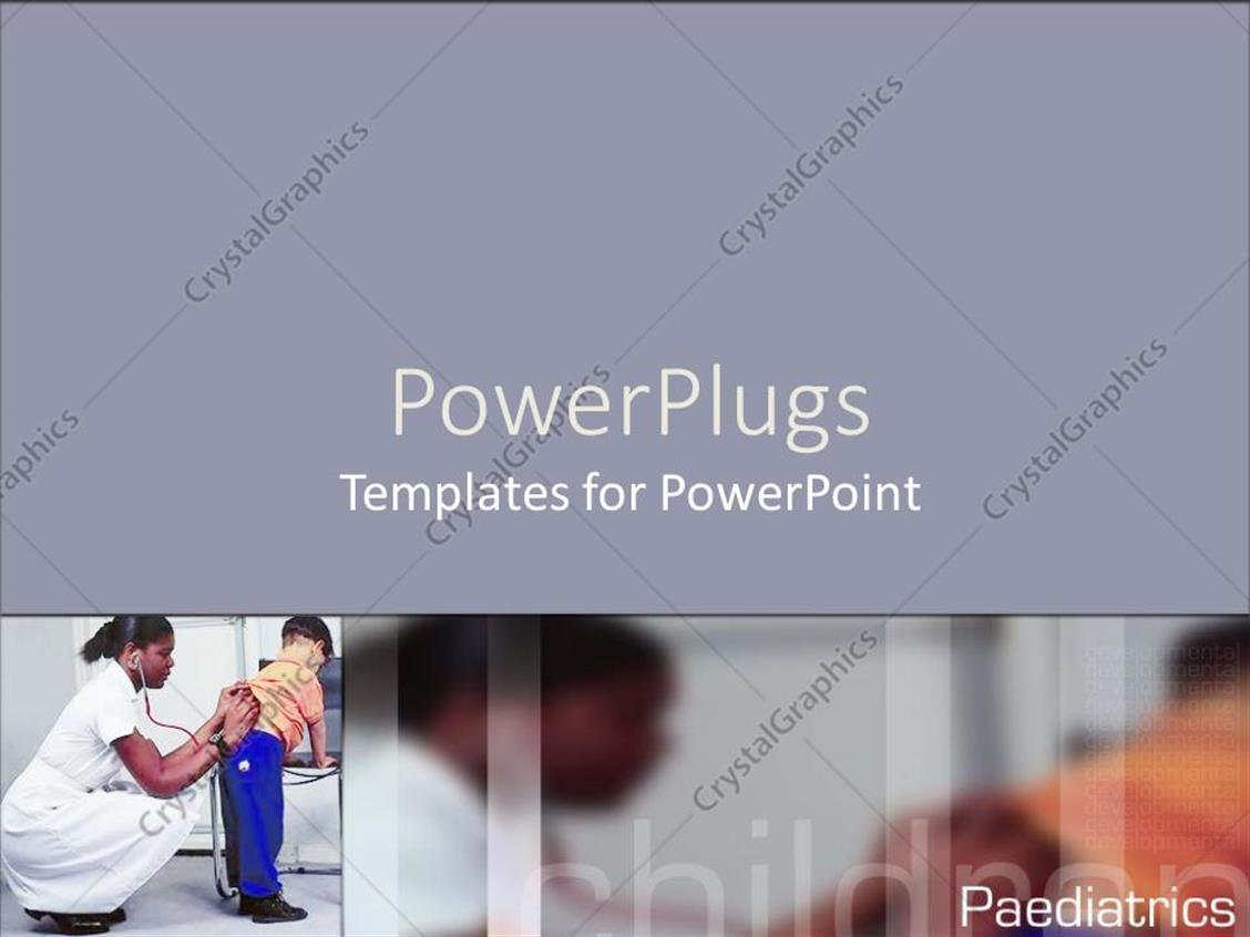 Powerpoint Template A Tile With A Nurse Attending To A Child Over