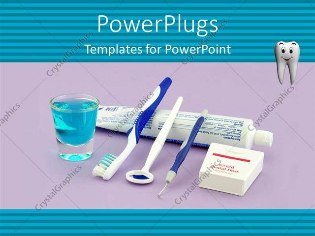 Powerpoint template tooth paste brush and other dental health powerpoint template displaying tooth paste brush and other dental health equipments that a person should toneelgroepblik Images