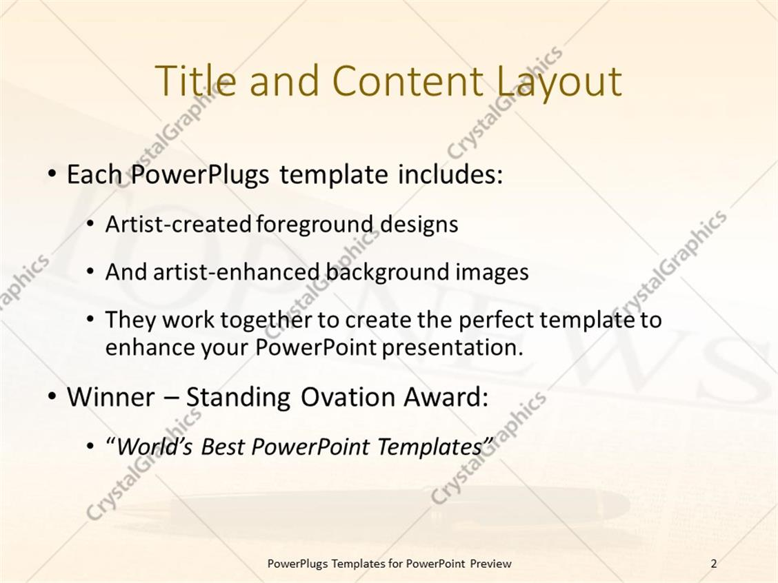 Powerpoint template top news headline on a newspaper page with powerpoint products templates secure alramifo Image collections
