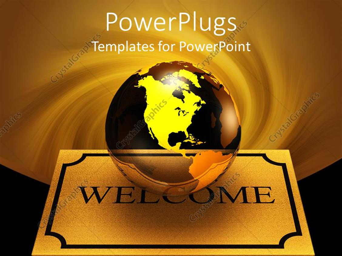 Powerpoint Template Transparent Glass Earth Globes On
