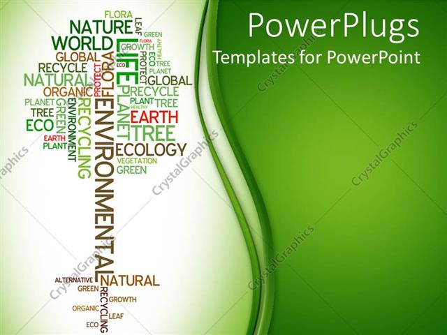 Powerpoint template tree made of words related to ecology and powerpoint template displaying tree made of words related to ecology and environment on light and dark toneelgroepblik Image collections