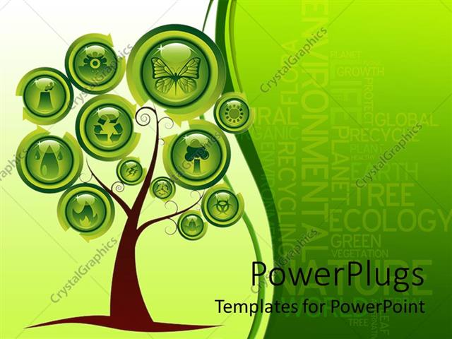 Powerpoint template a tree with various signs instead of leaves 24760 powerpoint template displaying a tree with various signs instead of leaves toneelgroepblik Image collections