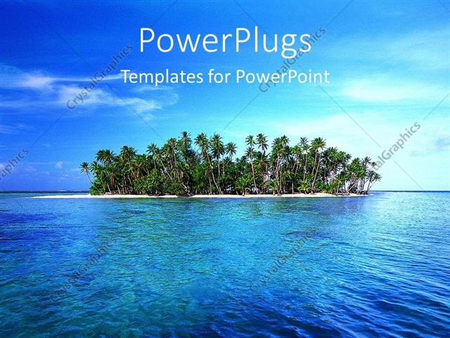 Powerpoint template tropical island with palm trees and ocean 21317 powerpoint template displaying tropical island with palm trees and ocean toneelgroepblik Choice Image