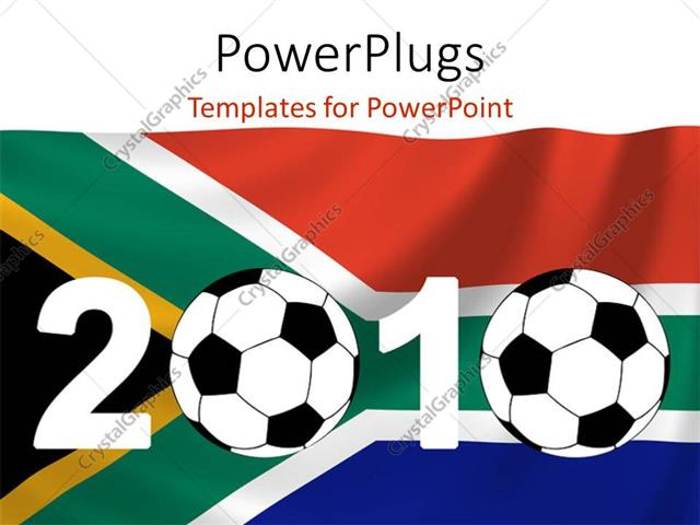 Powerpoint template two footballs with south african in the powerpoint template displaying two footballs with south african in the background toneelgroepblik Image collections