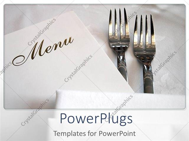 Powerpoint template two forks and the menu card with white powerpoint template displaying two forks and the menu card with white background toneelgroepblik Gallery