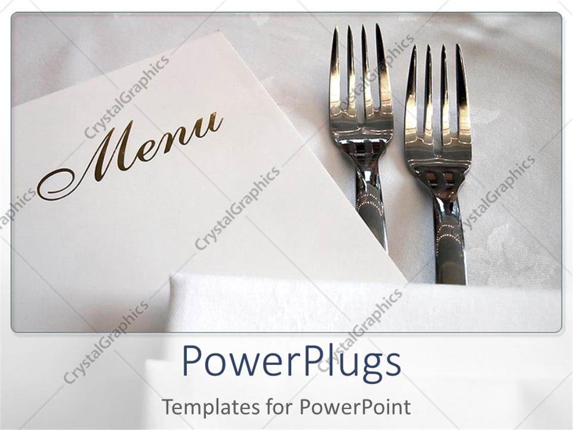 Powerpoint template two forks and the menu card with white powerpoint template displaying two forks and the menu card with white background alramifo Gallery