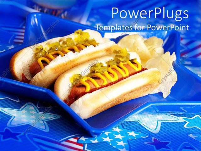 Free Hot Dog Powerpoint Template