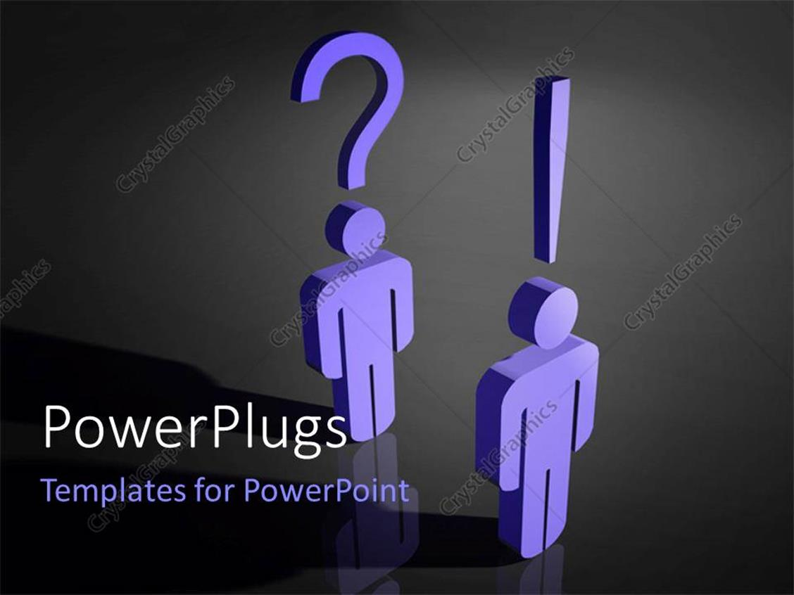 PowerPoint Template: two people with the question mark and ...