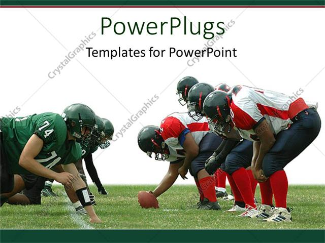 Template 11901 | Powerpoint Template Two Separate Rugby Teams Facing Each Other In A