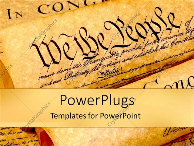 powerpoint template the united states of american constitution