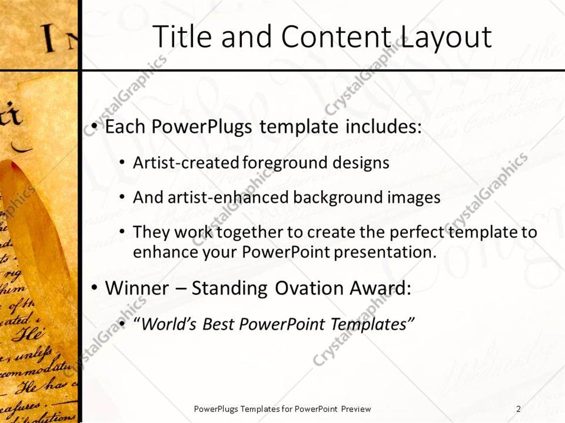Powerpoint template the united states of american constitution powerpoint products templates secure toneelgroepblik Image collections