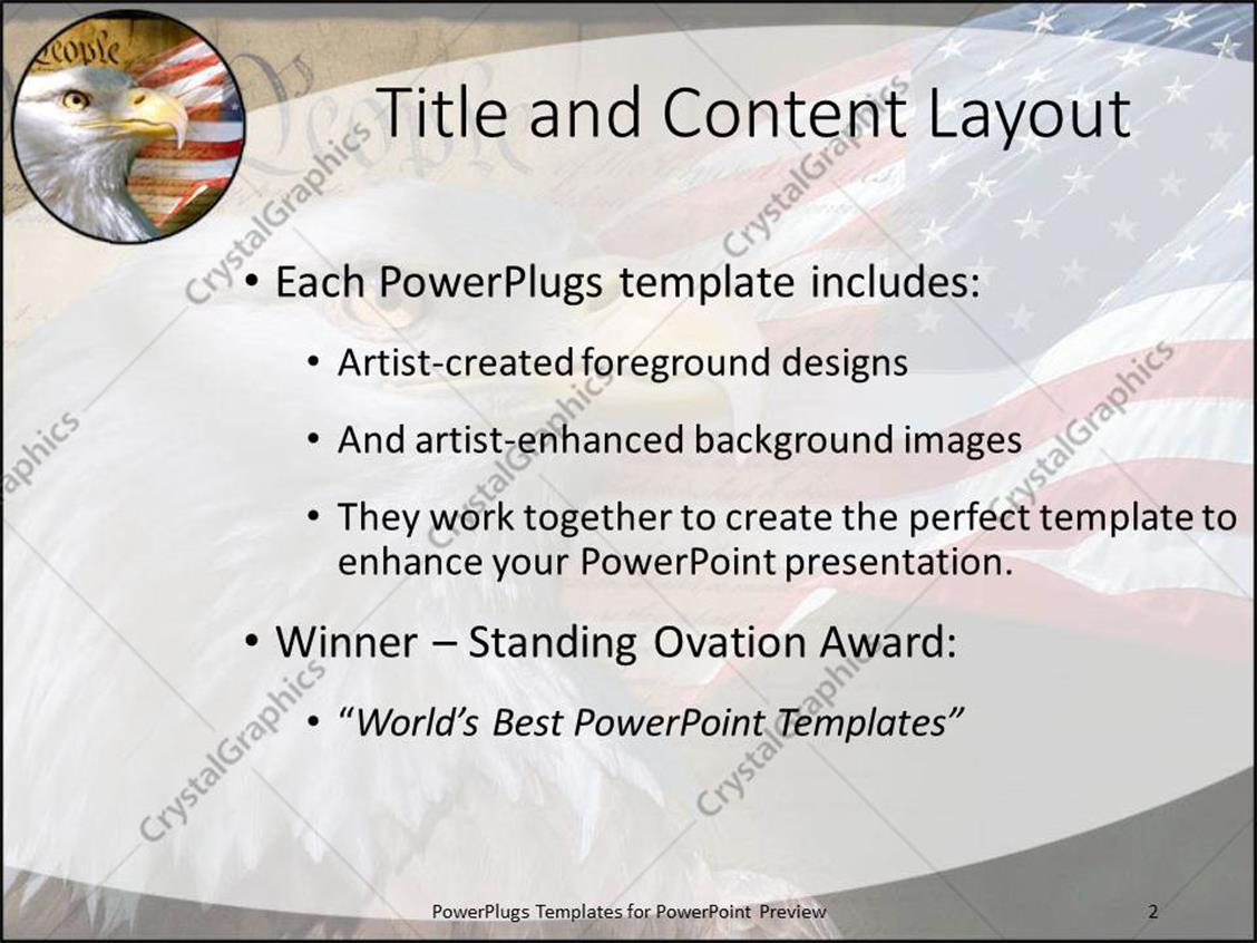 PowerPoint Template: united states constitution as a metaphor of ...