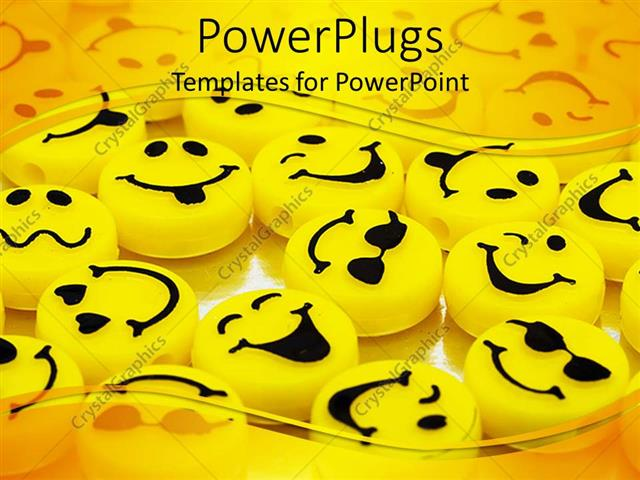 Powerpoint Template Variation Of Yellow Smiley Faces Yellow