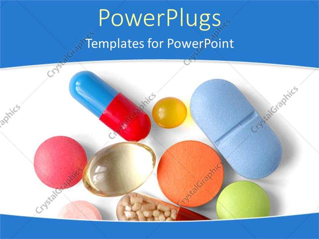 powerpoint template various capsules and pills with white background 19801. Black Bedroom Furniture Sets. Home Design Ideas