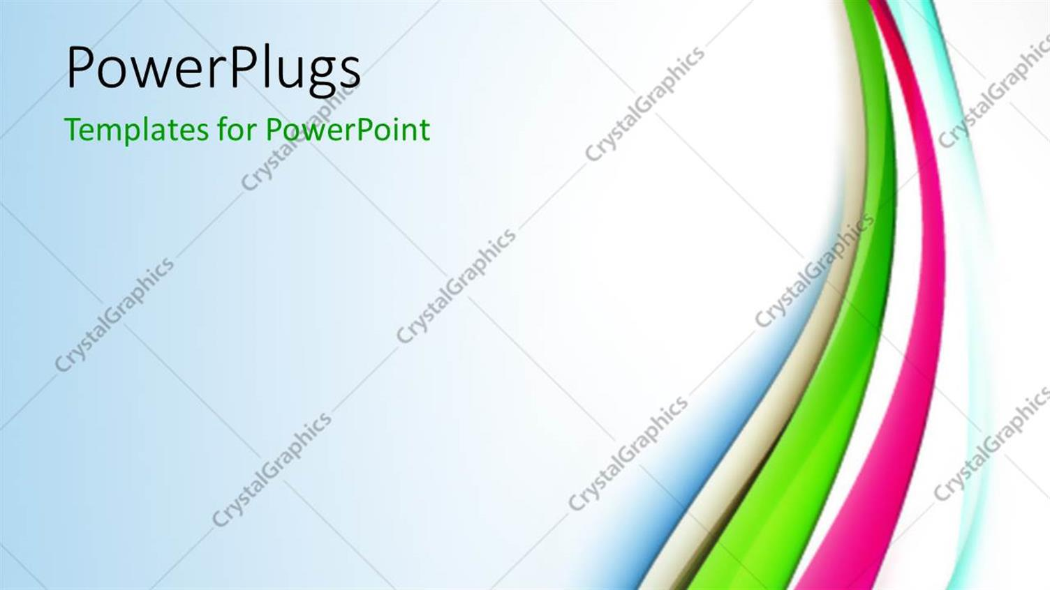 PowerPoint Template Displaying Various Colorful Lines with Bluish Background and Place for Text