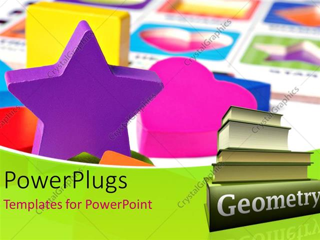 Powerpoint Template Various Shapes Made Of Plastic With