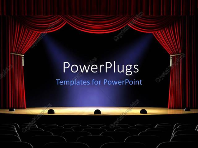Powerpoint Template View From Rear Of Empty Theater With