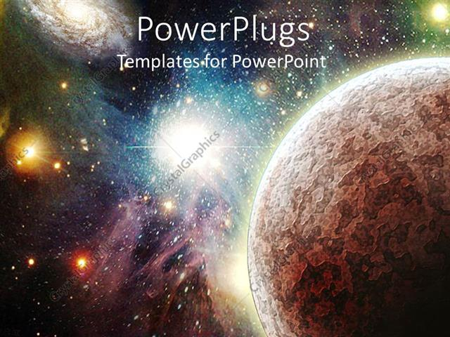 Powerpoint template view of the universe with planets stars and powerpoint template displaying view of the universe with planets stars and nebulas glowing in the toneelgroepblik Image collections