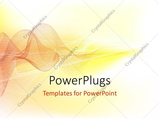 Powerpoint Template Visualization Of Sound Waves In Brown On Yellow Background 913