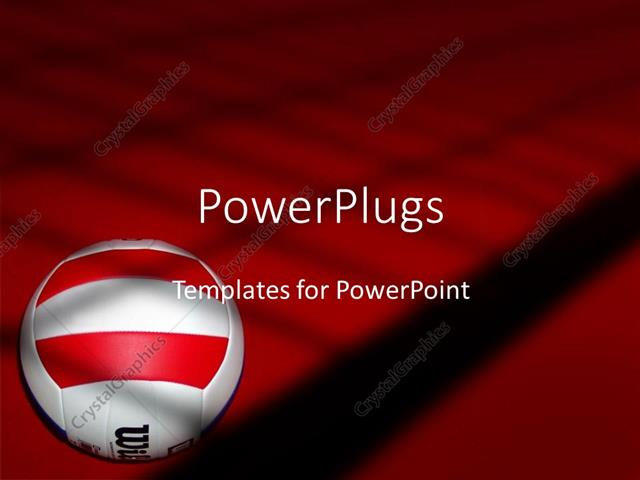 Powerpoint template volleyball on red and black background white powerpoint template displaying volleyball on red and black background white with red and black volleyball toneelgroepblik Gallery