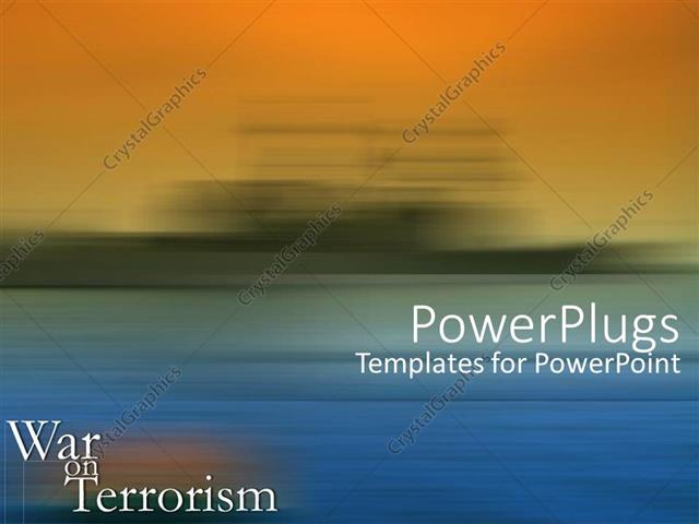 Powerpoint Template War On Terrorism Text With Orange And