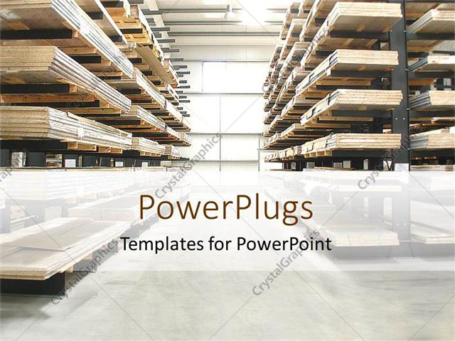Powerpoint template warehouse with wooden stacked shelves 31256 powerpoint template displaying warehouse with wooden stacked shelves toneelgroepblik Images