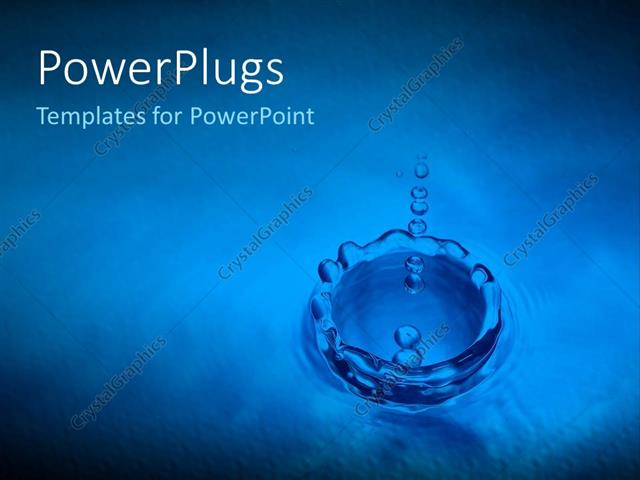 Powerpoint template water drops into puddle ripple effect blue powerpoint template displaying water drops into puddle ripple effect blue background toneelgroepblik