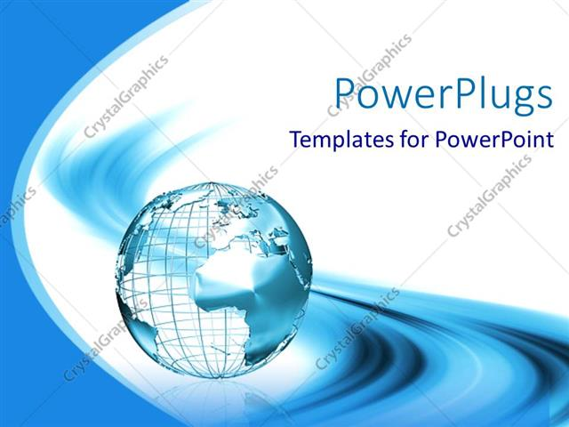 Powerpoint template white and light blue 3d representation of the powerpoint template displaying white and light blue 3d representation of the globe on abstract light blue toneelgroepblik Choice Image