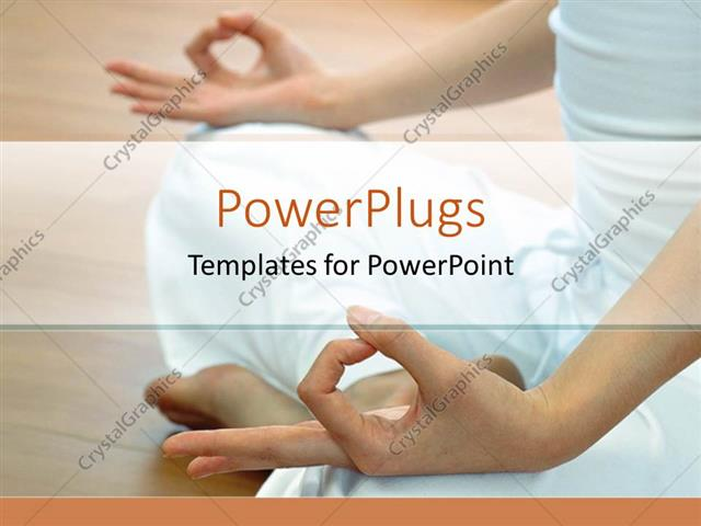 Powerpoint template woman doing yoga only showing legs and hands powerpoint template displaying woman doing yoga only showing legs and hands white background toneelgroepblik Images